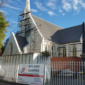 beaufort west church building restored and painted by boland painters builders and electrical contractors