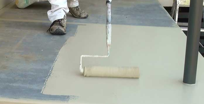 painting cement
